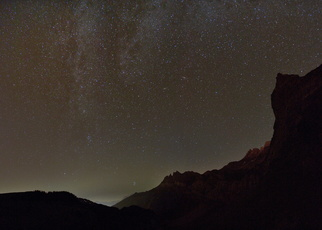 Au centre les Dents du Midi
